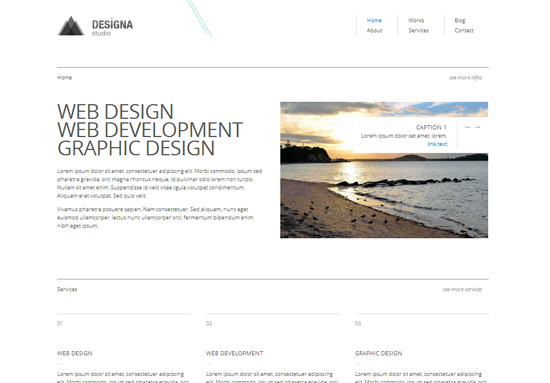 Designa бесплатный html/css макет