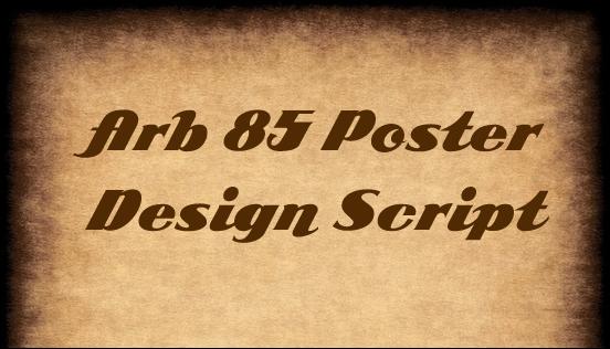 3-ARB-85-Poster-Design-Script