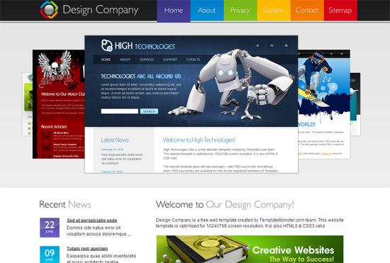 Дизайн сайта для css